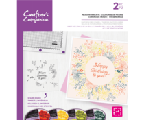 Crafter's Companion Meadow Wreath Rotating Clear Stamps (CC-STP-MEAWRE)