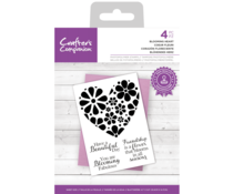 Crafter's Companion Blooming Heart Clear Stamps (CC-STP-BLHEA)