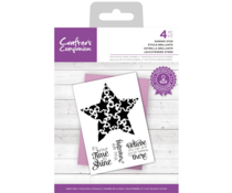 Crafter's Companion Shining Star Clear Stamps (CC-STP-SHSTAR)
