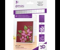 Gemini Beautiful Lilies 3D Embossing Folder & Stencil (GEM-EF5-3D-BEAL)