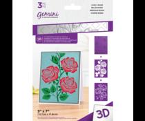 Gemini Lovely Roses 3D Embossing Folder & Stencil (GEM-EF5-3D-LOVR)