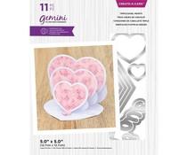Gemini Triple Easel Hearts Create-a-Card Dies (GEM-MD-CAD-TEHE)