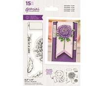 Gemini September Aster Stamp & Die (GEM-STD-SEPTAST)