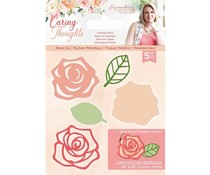 Crafter's Companion Caring Thoughts Metal Dies Layered Rose (S-CT-MD-LROS)