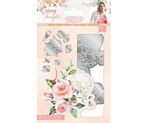 Crafter's Companion Caring Thoughts Metal Dies Floral Decoupage Set 1 (S-CT-MD-FLDEC1)