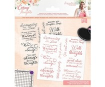 Crafter's Companion Caring Thoughts Clear Stamps Always In My Thoughts (S-CT-ST-AIMT)