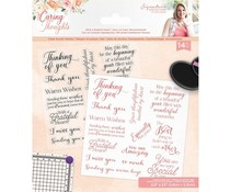 Crafter's Companion Caring Thoughts Clear Stamps With a Grateful Heart (S-CT-ST-WAGH)