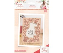 Crafter's Companion Caring Thoughts Cut and Emboss Folder Butterfly Swirls (S-CT-CEF-BSWIR)