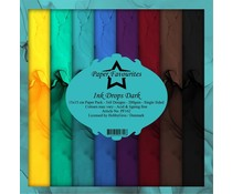 Paper Favourites Ink Drops Dark 6x6 Inch Paper Pack (PF162)