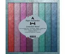 Paper Favourites Scratched Metal 6x6 Inch Paper Pack (PF164)