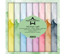Paper Favourites Ink Drops Light 12x12 Inch Paper Pack (PF361)