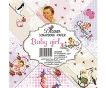 Decorer Baby girl 8x8 Inch Paper Pack (DECOR-B33-431)