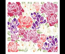 LDRS Creative Bursting Bouquet 6x6 Inch Stencil (LDRS5200)