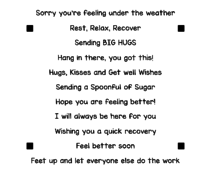 LDRS Creative Get Well 4x4 Inch Sentiment Stack Clear Stamps (LDRS3292)