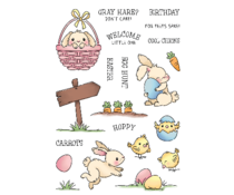 LDRS Creative Hoppy Egg Hunt 4x6 Inch Clear Stamps (LDRS3288)