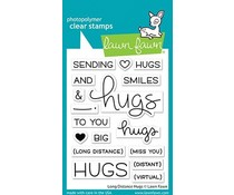Lawn Fawn Long Distance Hugs Clear Stamps (LF2510)