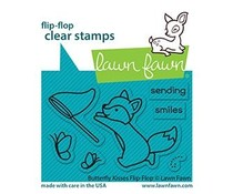 Lawn Fawn Butterfly Kisses Flip-Flop Clear Stamps (LF2516)