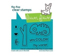 Lawn Fawn One in a Chameleon Flip-Flop Clear Stamps (LF2512)