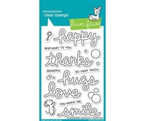 Lawn Fawn Scripty Bubble Sentiments Clear Stamps (LF2502)