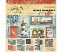 Graphic 45 Catch of the Day 12x12 Inch Collection Pack (4502176)