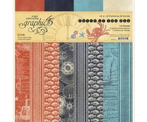 Graphic 45 Catch of the Day 12x12 Inch Patterns & Solids Paper Pad (4502177)