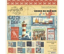 Graphic 45 Catch of the Day 8x8 Inch Paper Pad (4502175)