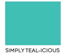 Heffy Doodle Simply Teal-icious Letter Size Cardstock (10pcs) (HFD0215)