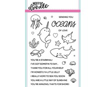 Heffy Doodle Oceans of Love Clear Stamps (HFD0042)