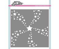 Heffy Doodle Star Swirl Stencil (HFD0178)