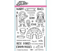 Heffy Doodle Warm Hugs Clear Stamps (HFD0010)