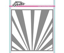 Heffy Doodle Rays The Roof Stencil (HFD0124)