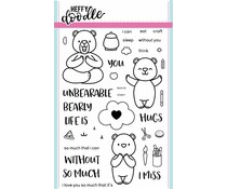 Heffy Doodle Unbearable Without You Clear Stamps (HFD0003)