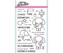 Heffy Doodle Elephant of Surprise Clear Stamps (HFD0001)