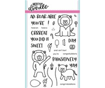 Heffy Doodle Ad-roar-able Lions Clear Stamps (HFD0007)