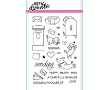 Heffy Doodle Yappy Happy Mail Clear Stamps (HFD0052)