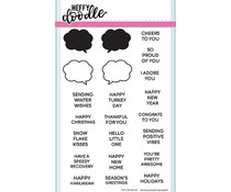 Heffy Doodle Whatcha Saying Now Clear Stamps (HFD0092)