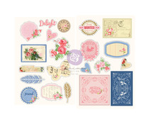 Prima Marketing Julie Nutting Frayed Denim Chipboard Stickers (913304)