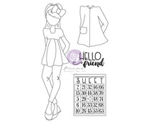 Prima Marketing Julie Nutting Doll Stamp Amberly (913250)