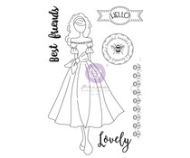 Prima Marketing Julie Nutting Doll Stamp Melissa (913274)