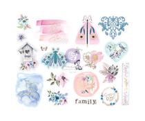Prima Marketing Watercolor Floral Chipboard Stickers (651459)