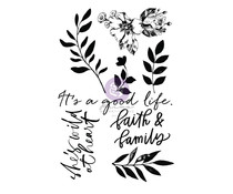 Prima Marketing Watercolor Floral Clear Stamp (651466)