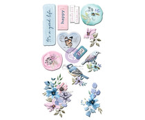 Prima Marketing Watercolor Floral Puffy Stickers (651497)