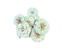 Prima Marketing Watercolor Floral Flowers Minty Water (653132)