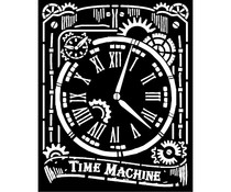 Stamperia Thick Stencil 20x25cm Voyages Fantastiques Clock (KSTD071)