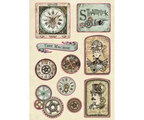 Stamperia Wooden Shapes A5 Voyages Fantastiques Tag (KLSP097)