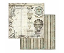 Stamperia Voyages Fantastiques Air Balloon 12x12 Inch Paper Sheets (10pcs) (SBB599)