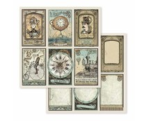 Stamperia Voyages Fantastiques Cards 12x12 Inch Paper Sheets (10pcs) (SBB601)