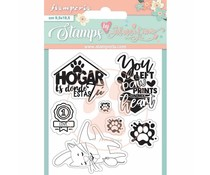 Stamperia Circle of Love Labels Clear Stamps (WTKJR33)