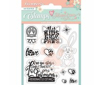 Stamperia Circle of Love Rabbit Clear Stamps (WTKJR35)