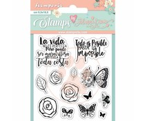 Stamperia Circle of Love Roses and Butterfly Clear Stamps (WTKJR34)